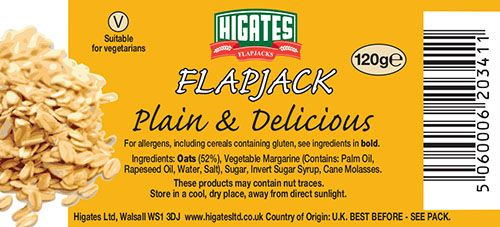 Plain and Delicious flapjacks
